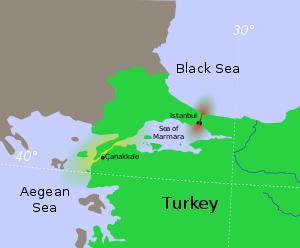 با معاهده لندن دوتنگه بسفر و داردانل به روی کشتی های جنگی بسته شد
