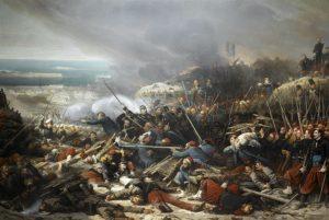 در جنگ کریمه سربازان فرانسوی وانگلیسی دوشادوش سربازان ترک برضد روسها جنگیدند