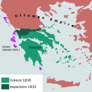 نقشه یونان یکی از مشکل ساز ترین سرزمین های زیر سلطه عثمانی .