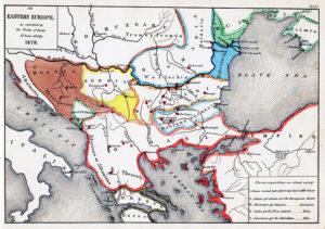 وضعیت ارضی در جنوب شرقی اروپا بعد از دو پیمان سن استفانو و برلین