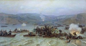 عبور ارتش روسیه در رودخانه دانوب در آوریل 1877 سرآغازجنگ روسیه و عثمانی بود