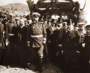 فردیناند اول پادشاه بلغارستان. او با استفاده از انقلاب عثمانی موجودیت پادشاهی بلغارستان را اعلام کرد