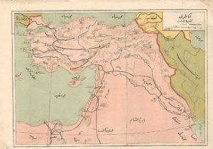 مسیر خطوط ریلی حجاز که از استانبول تا سوریه و عربستان امتداد داشت و سفر طولانی و پرخطر حج ر برای مسلمانان راحت تر کرد