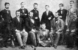 اعضای کمیته اتحاد ترقی که بعدها به ترکان جوان تبدیل شدند و انقلاب 1908 را رقم زدند