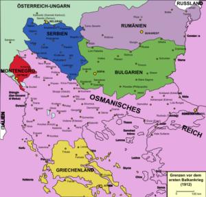 منطقه بالکان پیش از آغاز جنگ اول