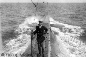 ادوارد بویل فرمانده زیر دریایی E14 . زیر دریایی های متفقین در گالی پولی کابوس نیروی دریایی عثمانی بودند