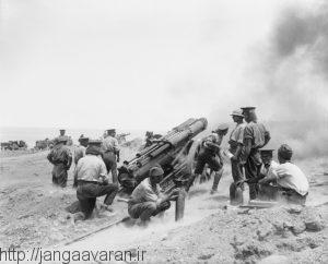 توپ 60 پوندی متفقین در نبرد کریتیا. بخشی از ادوات توپخانه متفقین برای ارتش عثمانی ناشناخته بود