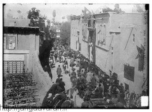 ارومیه چند سال مانده به جنگ جهانی اول و در هنگام استقبال از احمدشاه. ارومیه در سال های جنگ جهانی اول هم از سوی دولت عثمانی و نیروهای ارمنی وآشوری آسیب فراوان دید