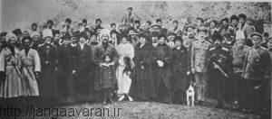 ژنرال باراتوف و نیروهایش در قزوین. ورود ارتش روسیه به قزوین باعث بروز وحشت در تهران شد