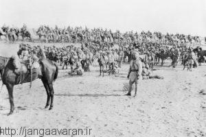 سربازان هندی در صحرای سینا. نیروهای مستعمراتی بریتانیا نقش اصلی را در عملیات صحرای سینا ایفا کردند