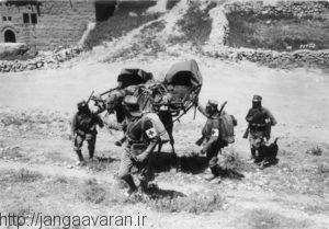 نیروهای آلمانی ارتش آسیا کورپس. این نیروها به طور مستقیم با ارتش بریتانیا درگیرشدند