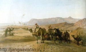 طرحی از نیروهای شترسوار بریتانیایی در نبرد مجدبا