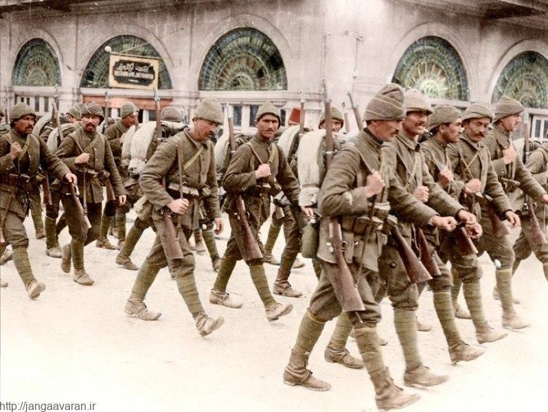 سربازان ارتش عثمانی در شهر اورشلیم