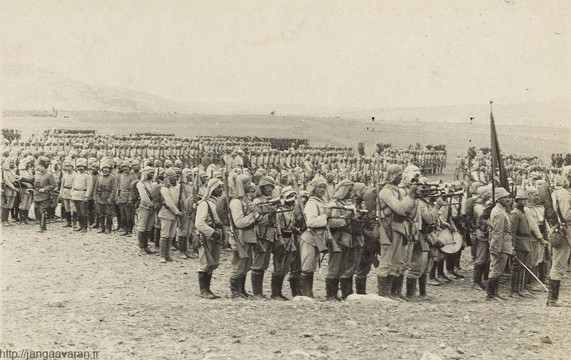 سربازان ارتش عثمانی در بیابان های فلسطین