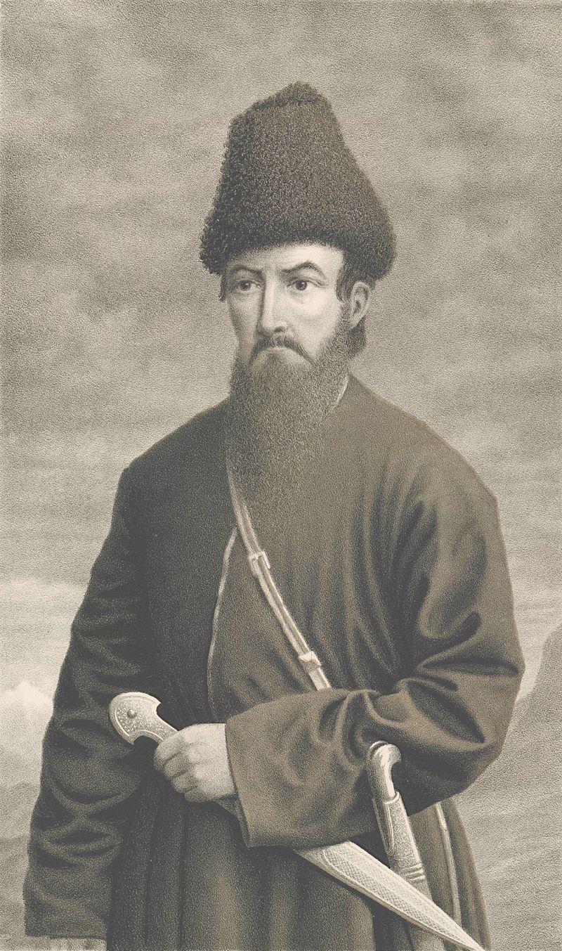 شاهزاده اسکندر میرزا. شورش این شاهزاده گرجی برضد روسها در حالی که جنگ با ایران جریان داشت اوضاع را برای آنها سخت تر کرد