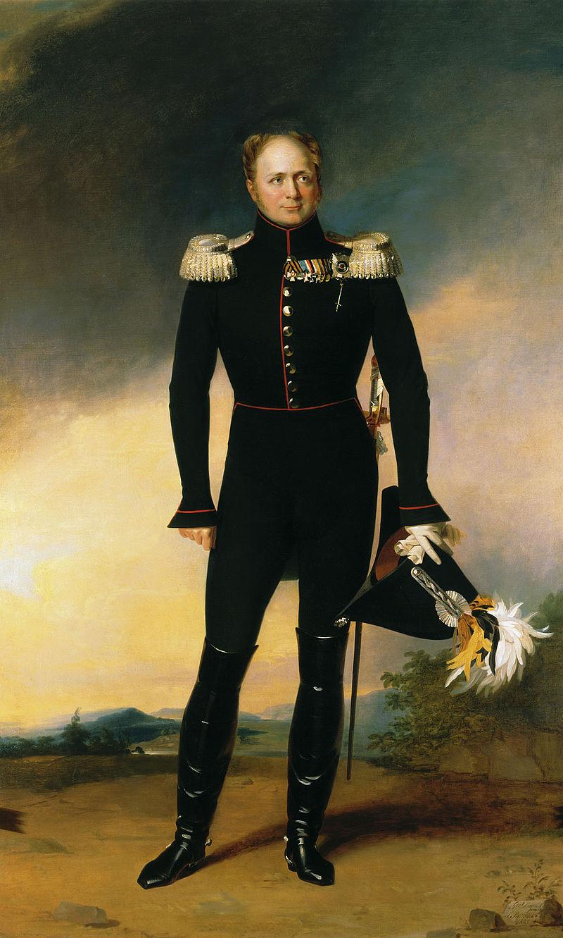 تزار الکساندر اول. او عجیب ترین تزار خاندان رومانف بود که به طور ناگهانی از سلطنت استعفا داد و بعد از او افول تدریجی قدرت روسیه تزاری آغازشد