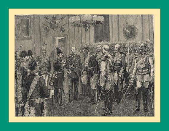 صحنه استقبال امپراتور ویلهلم اول از ناصرالدین شاه