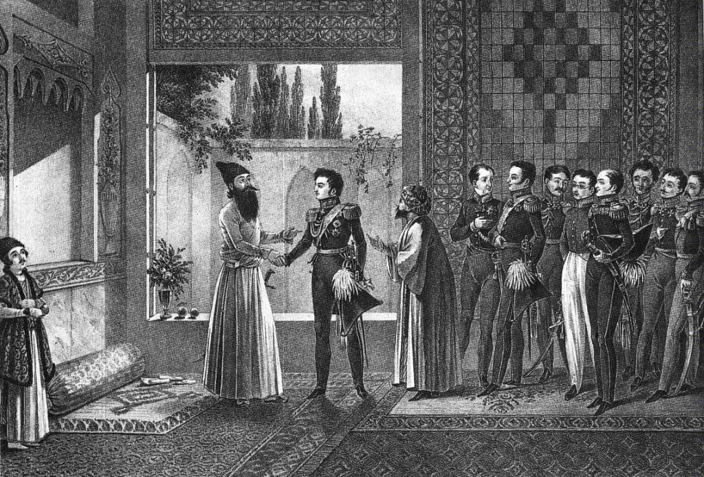 دیدار ژنرال پاسکوویچ و عباس میرزا در مذاکرات ترکمنچای