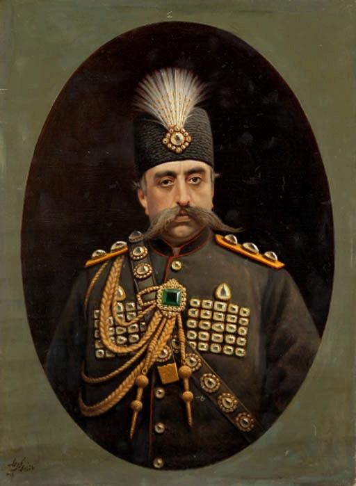 مظفرالدین شاه جانشین ناصرالدین شاه. او برخلاف پدر خود فردی بشدت بیمار و ساده لوح بود