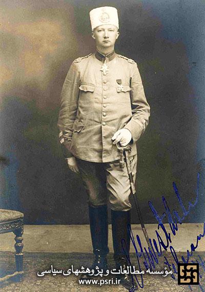 کلنل وستداهل سوئدی . او اولین فرمانده نظمیه ایران بود