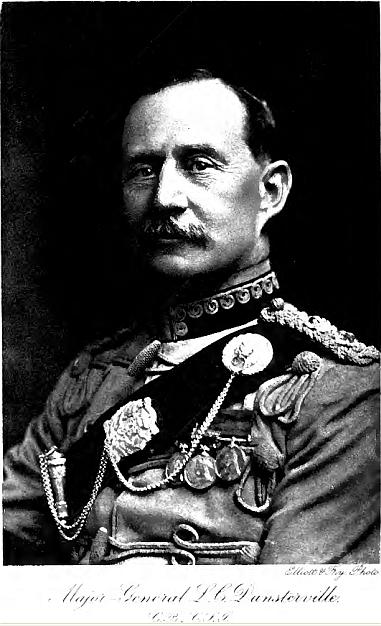 ژنرال چارلز دانسترویل. او در سال 1918 با 4 هزار نیروی نظامی وارد ایران شد تا برای نبرد با ترک ها راهی باکو شود